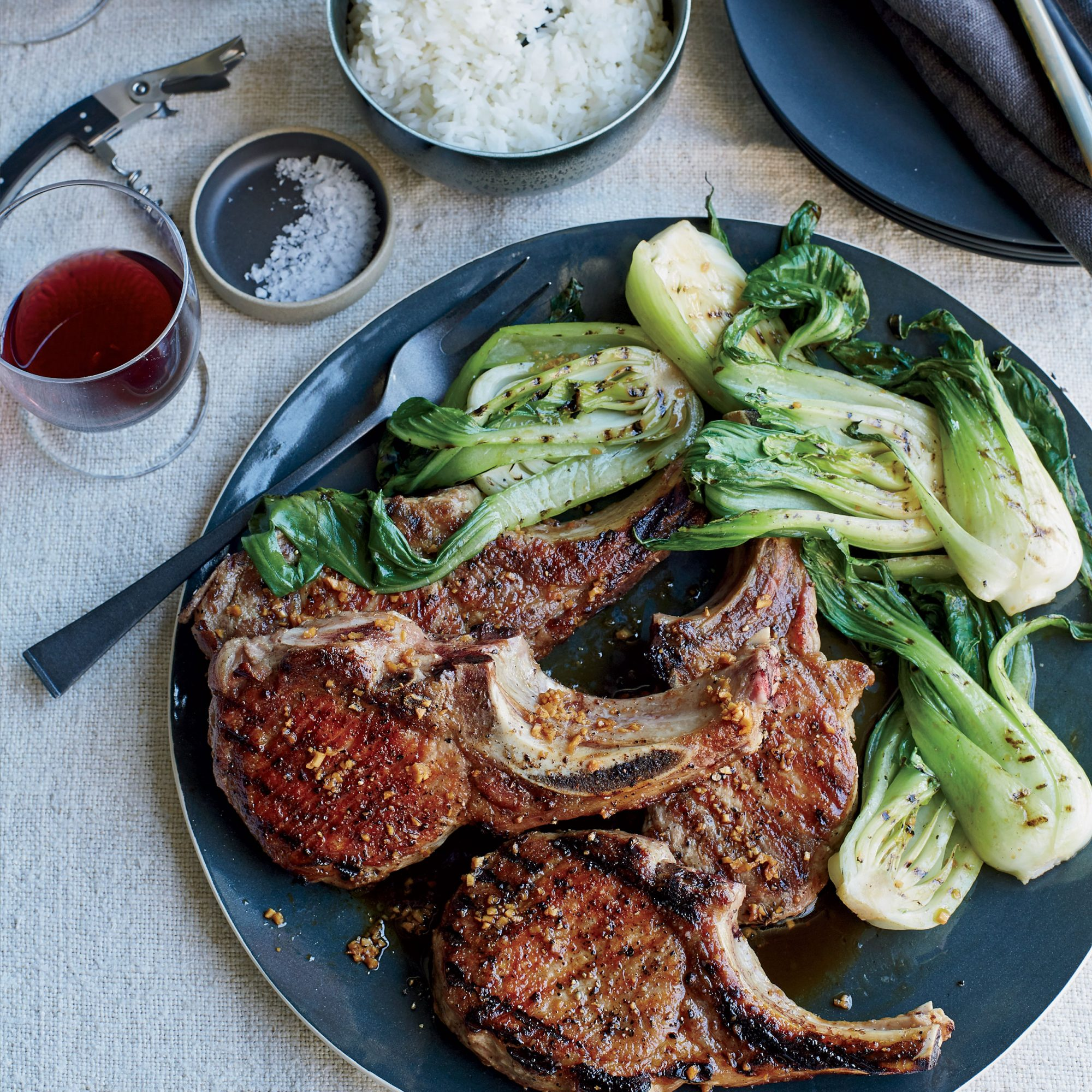 Grilled Pork Chops With Ginger Sauce Recipe