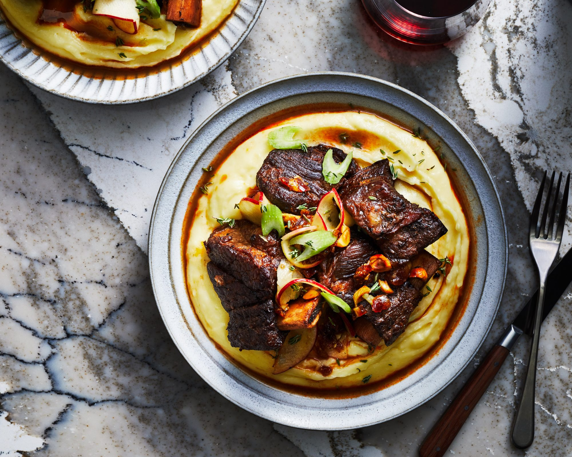 Instant Pot Short Ribs with Triple-Cream Mashed Potatoes