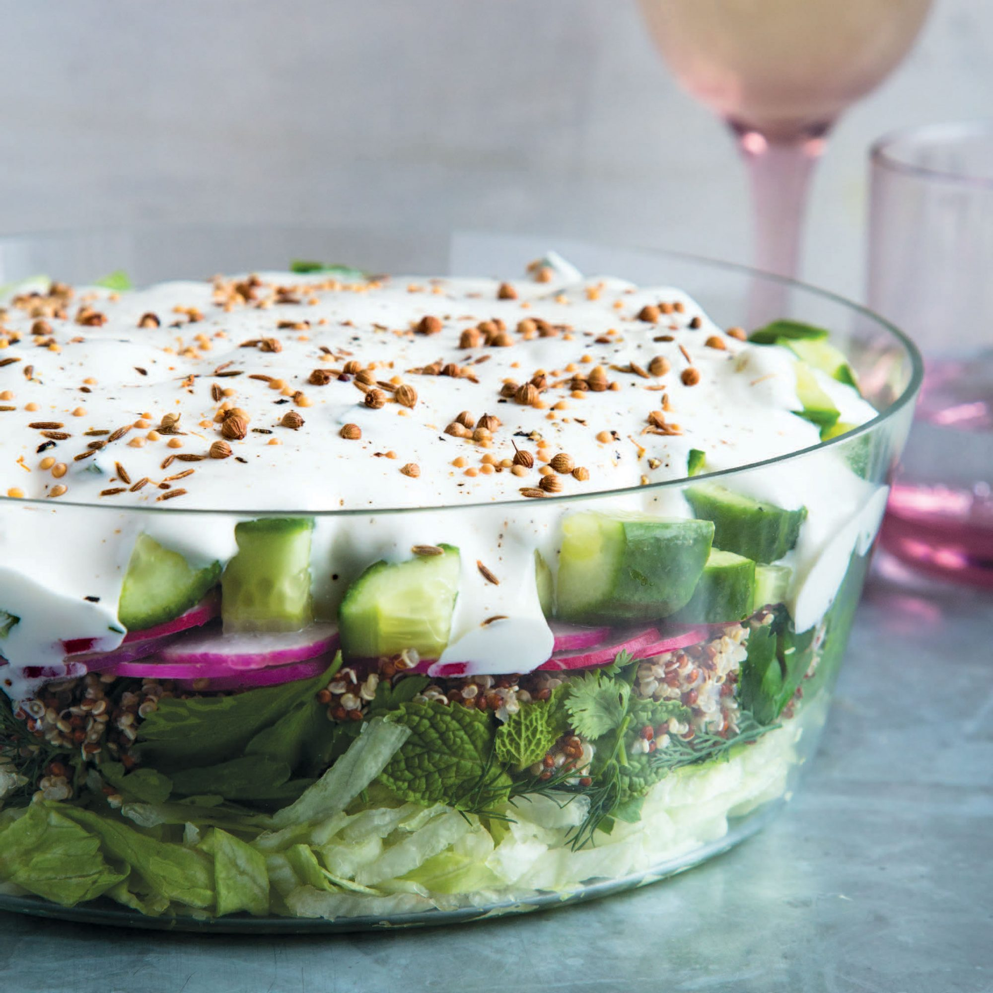 Middle Eastern 7 Layer Salad