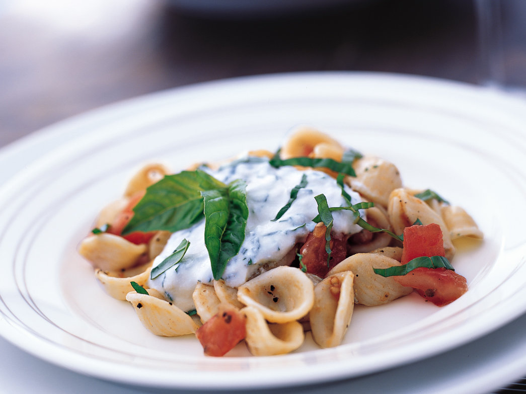 Orecchiette with Ricotta, Basil and Tomatoes