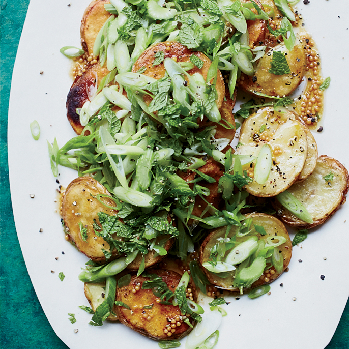 Grilled Potato Salad with Mustard Seeds