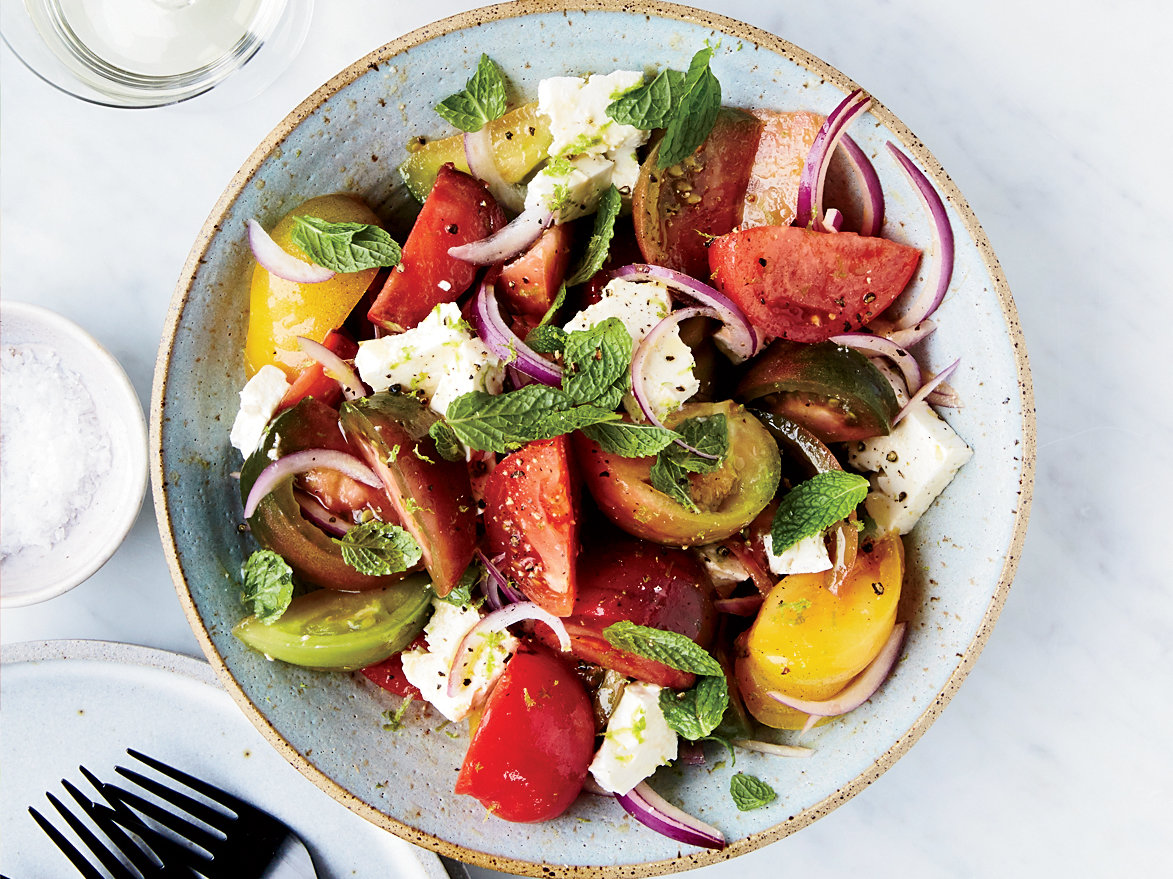 Tomato-Feta Salad with Lime and Mint