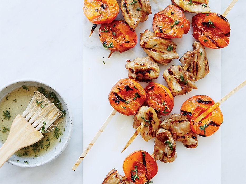 Chicken-and-Apricot Kebabs
