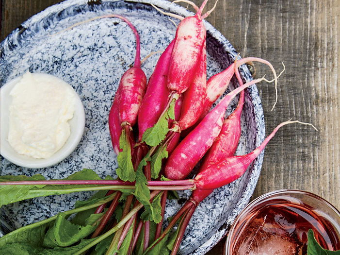 Mixed Radishes with Yogurt Butter