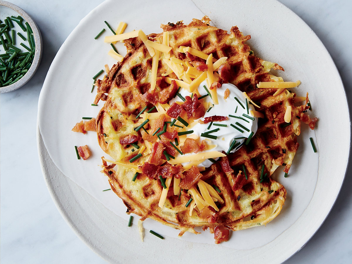 Loaded Potato Waffles