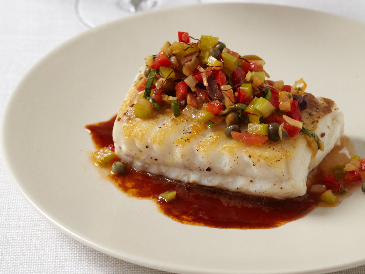 Sautéed Cod with Rich Ketchup Sauce