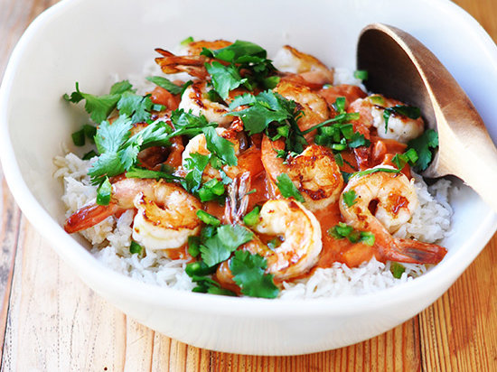 Shrimp with Coconut-Curry Tomato Sauce