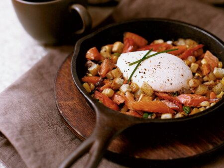 Smoked Trout Hash With Potatoes And Corn Recipe Jason Knibb