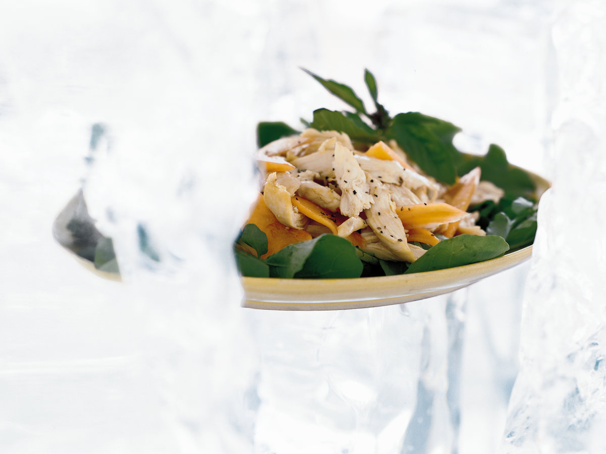 Spicy Chicken Salad with Papaya