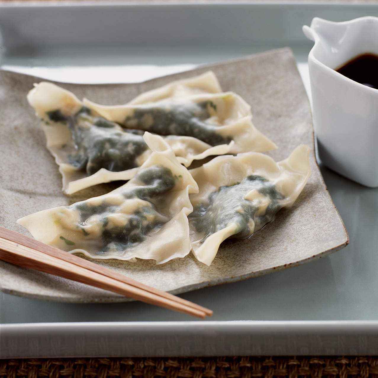 Spinach and Tofu Dumplings
