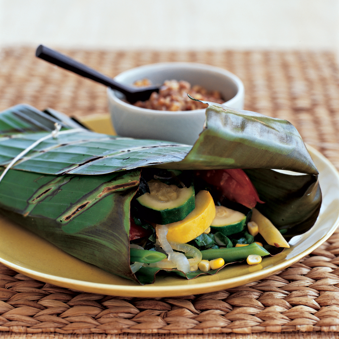 Summer Vegetable Packs with Toasted Pecan Butter