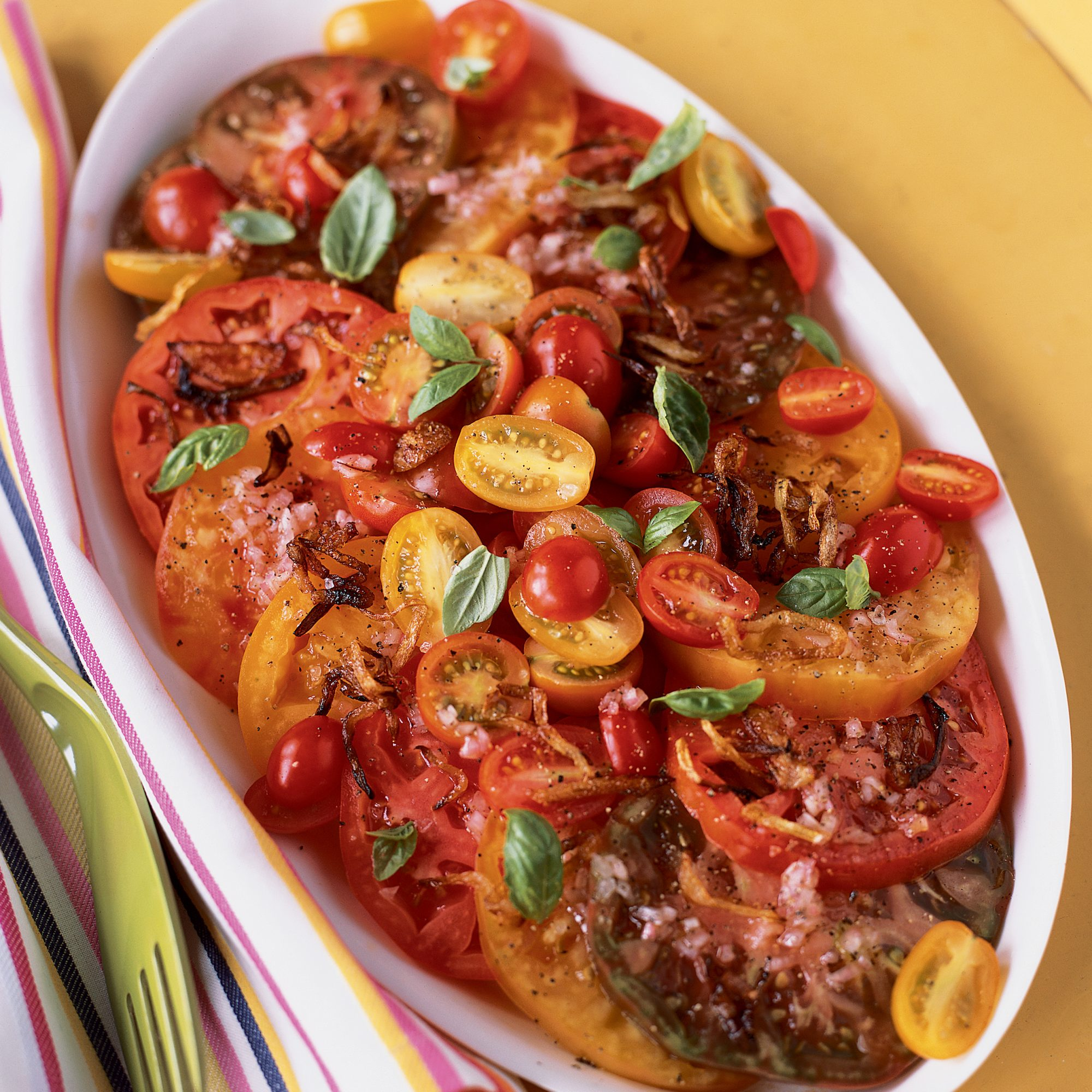Tomato Salad with Crispy Shallots