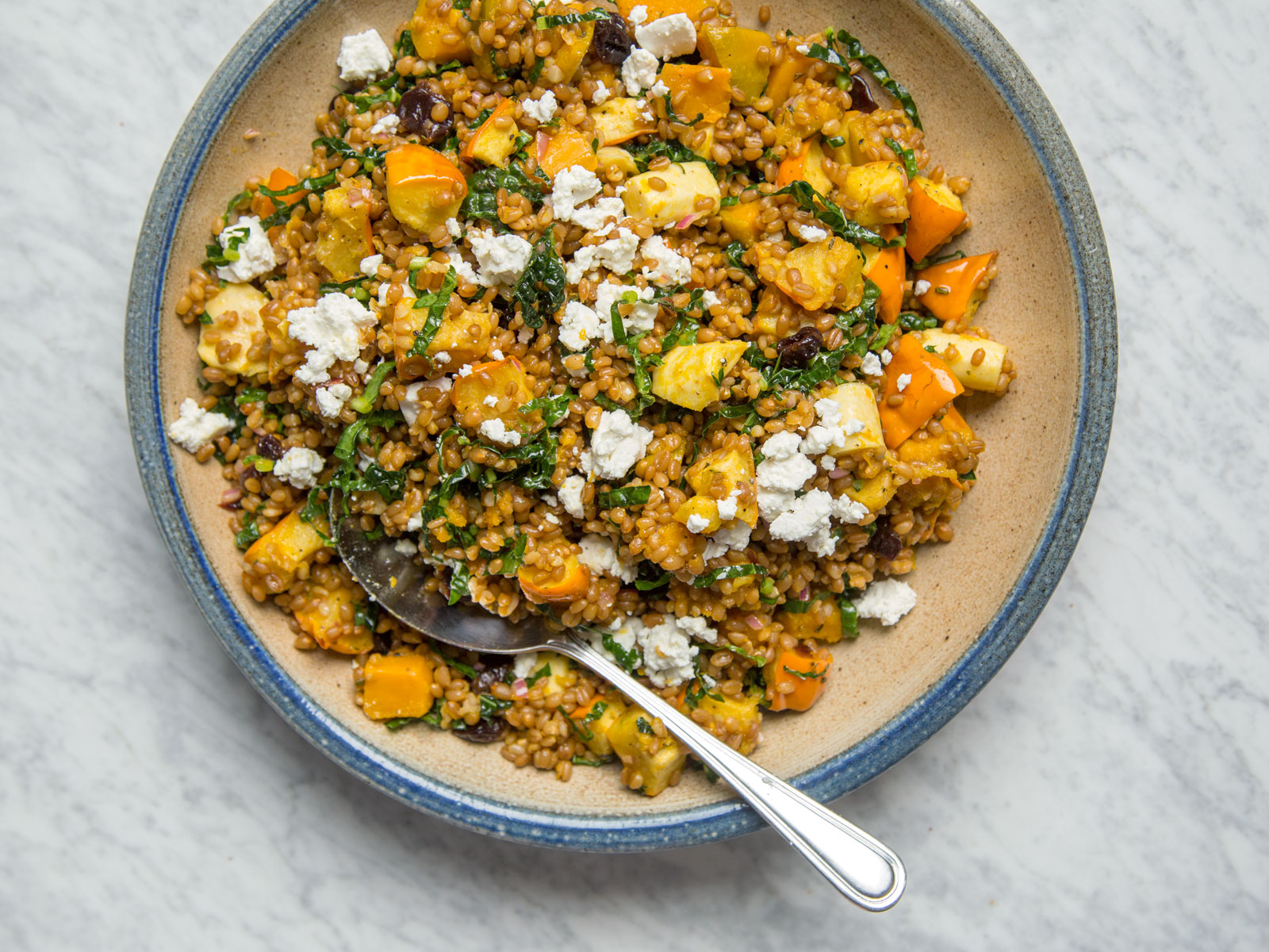 Wheat Berry and Squash Salad
