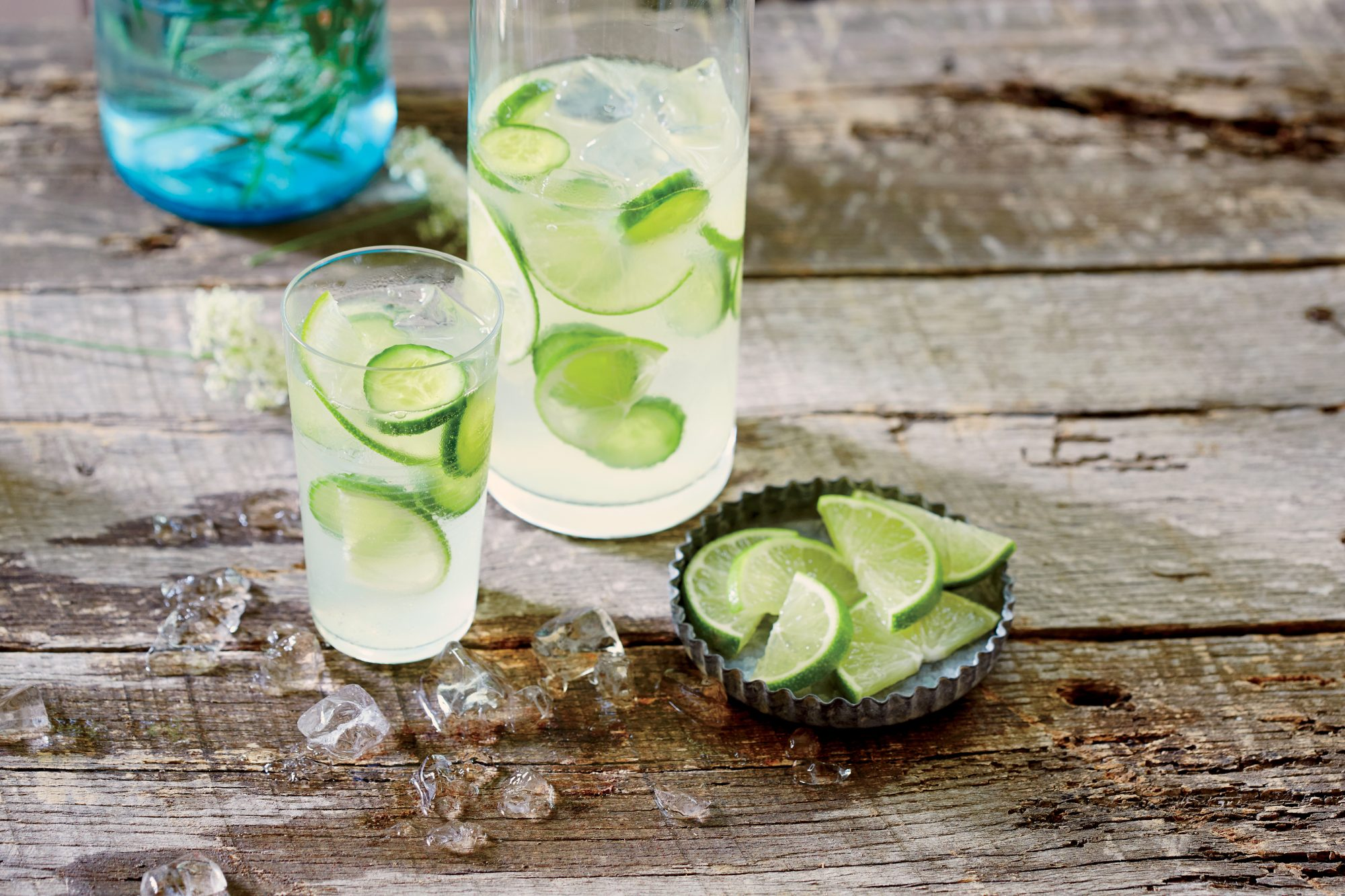 Cucumber Lime Infused Gin and Tonic