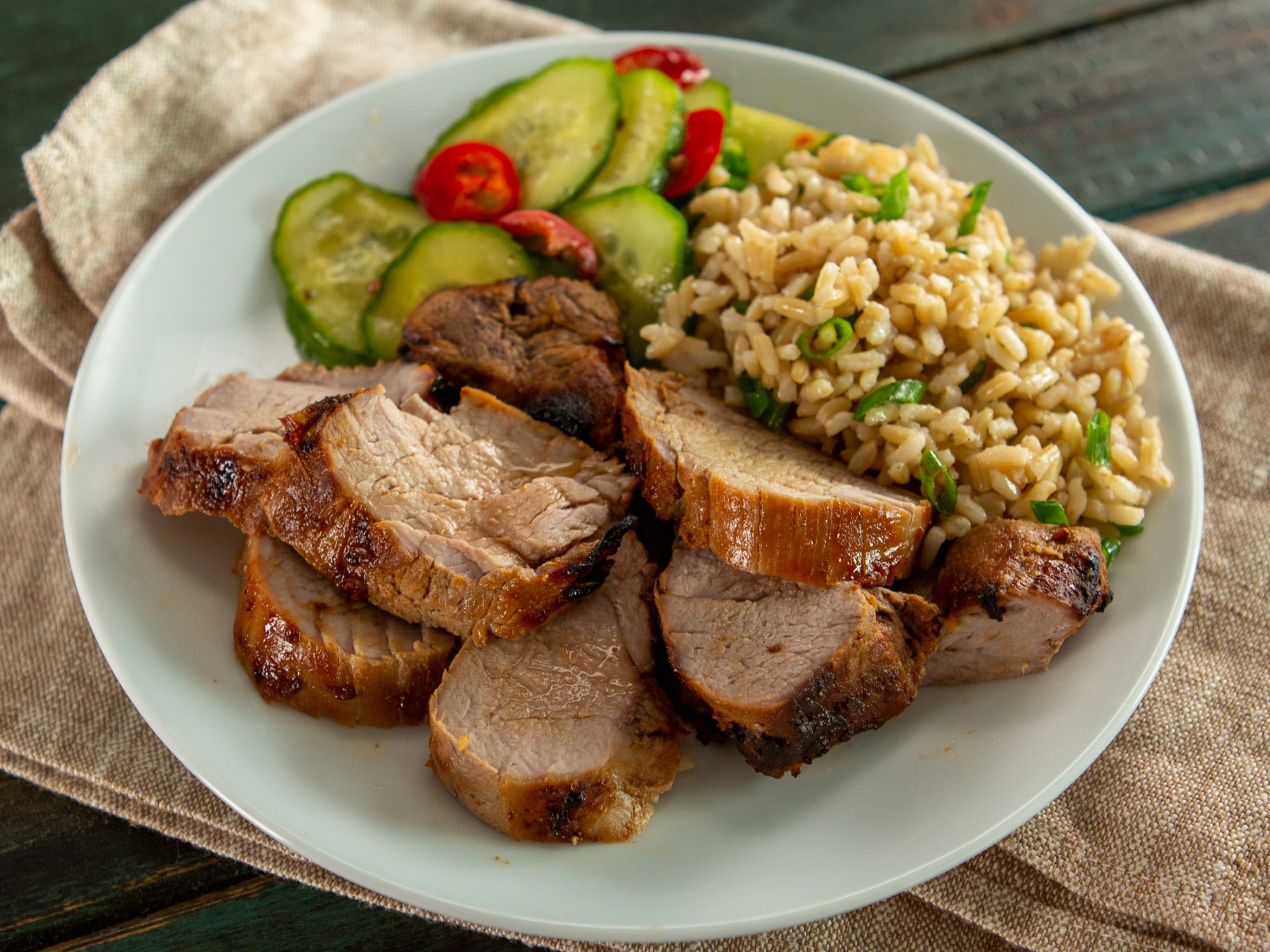 Air Fryer Marinated Pork Tenderloin image
