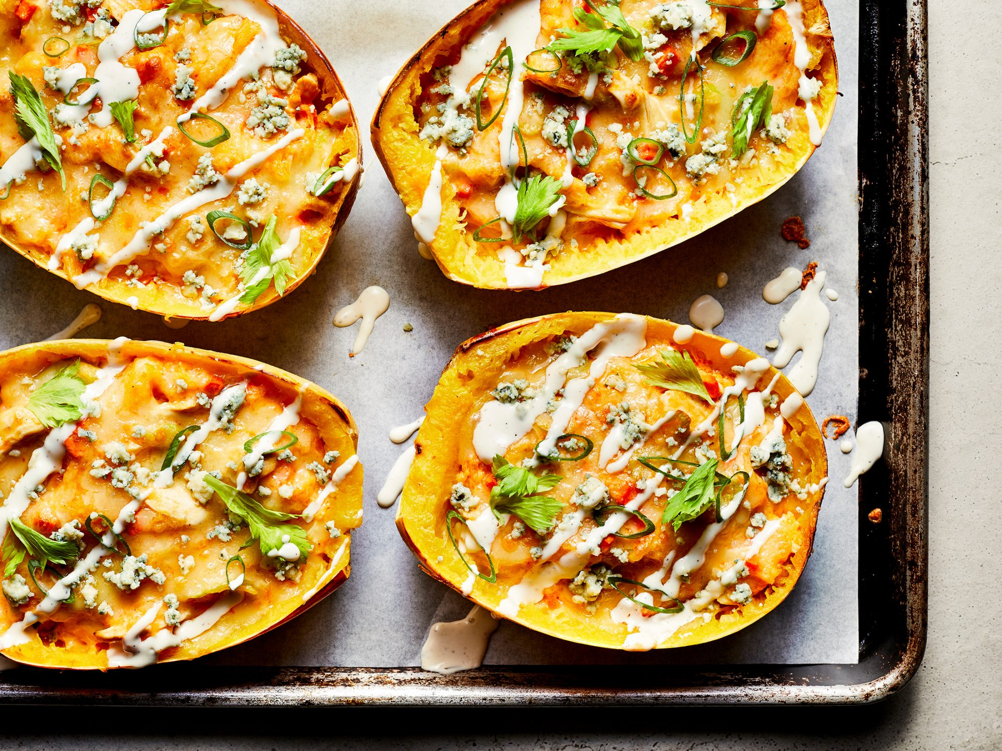 Buffalo Chicken Stuffed Spaghetti Squash image