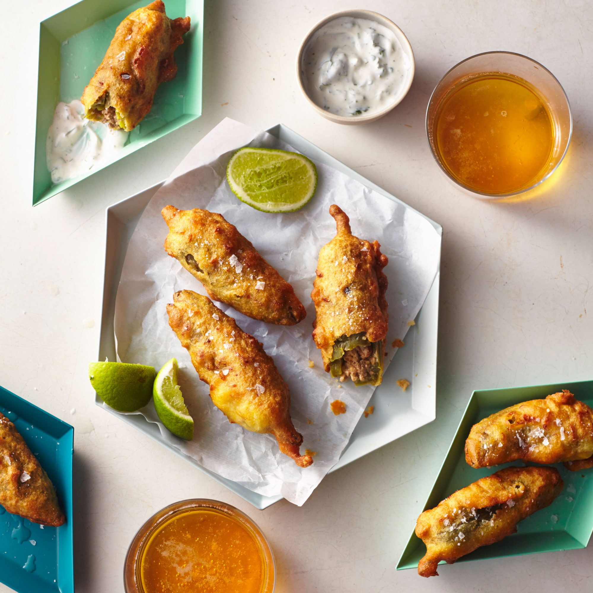 Cheesy Taco Jalapeño Poppers with Cilantro-Lime Crema image