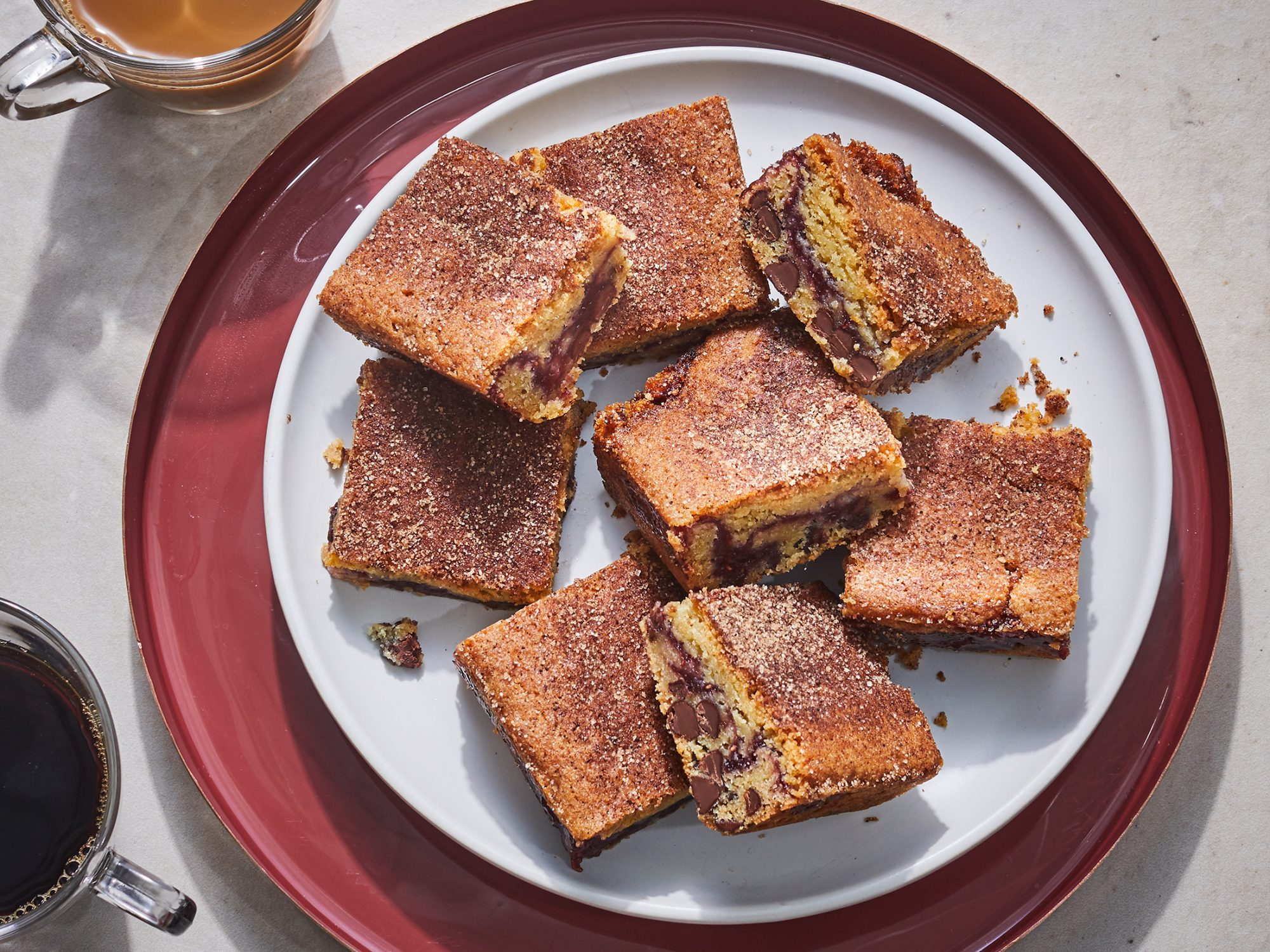 Chocolate Chip-Snickerdoodle Jam Bars image