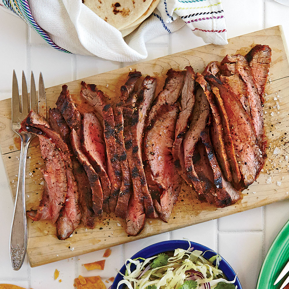 Spice-rubbed Grilled Flank Steak