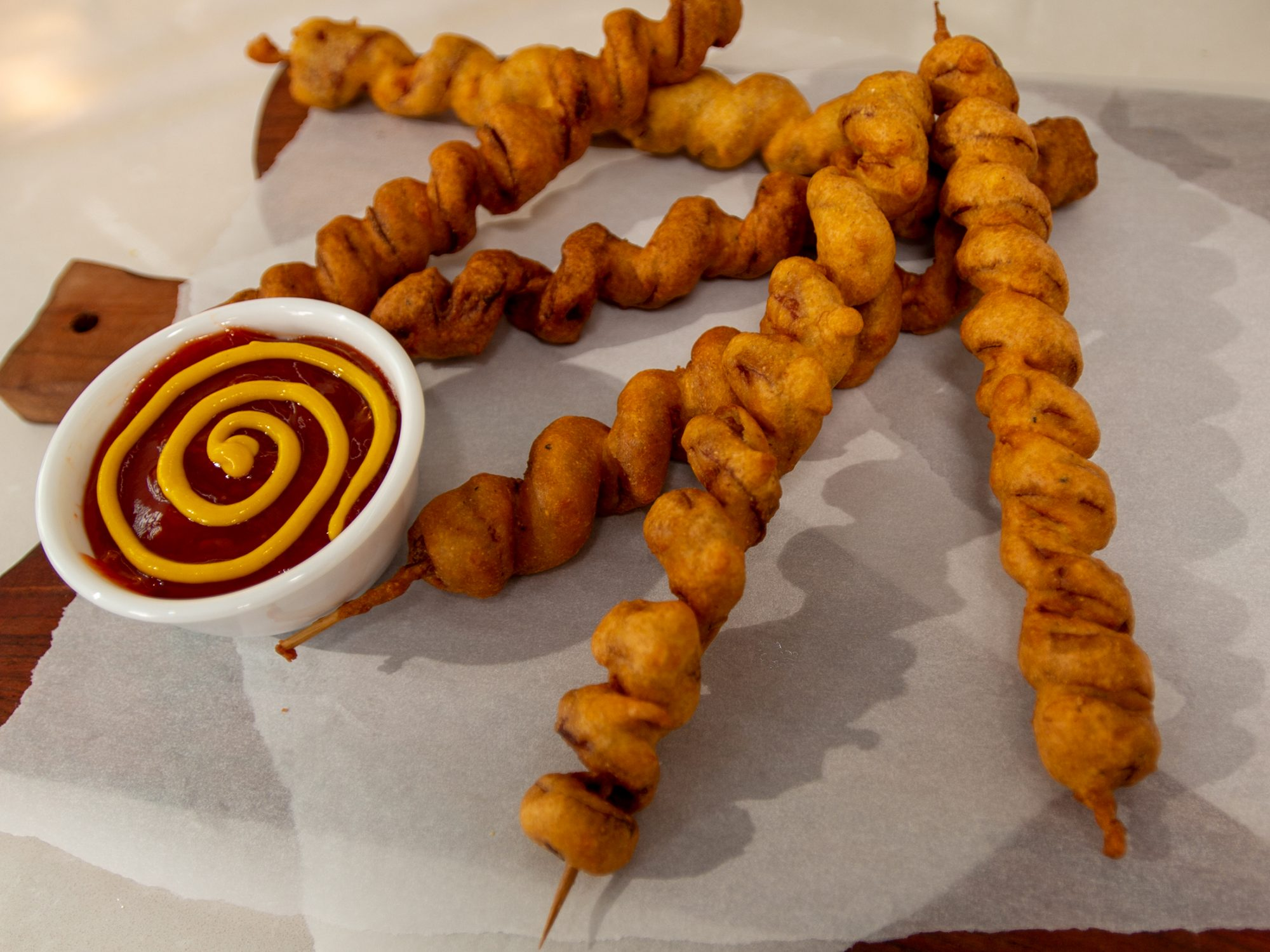 Spiral Corn Dogs image