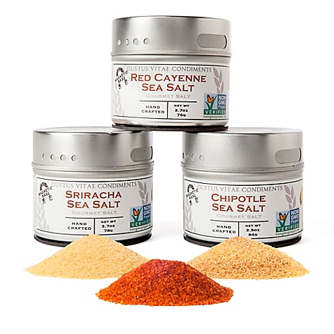 Gustus Vitae 3-Pack Red Hot Sea Salts Collection