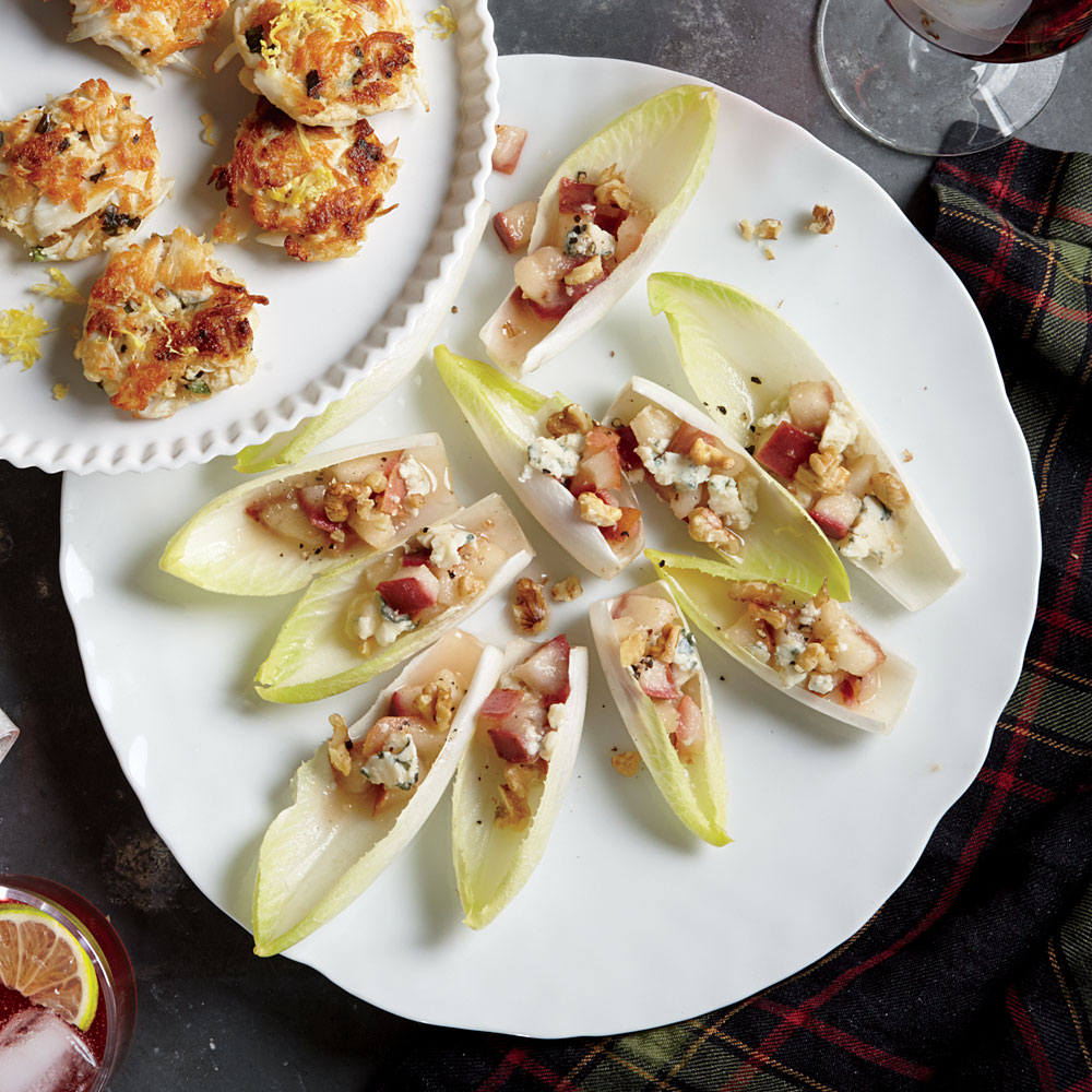 Endive Boats with Pears, Blue Cheese, and Walnuts