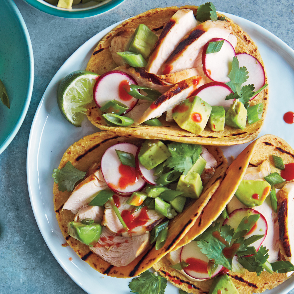 Chicken-Avocado Soft Tacos