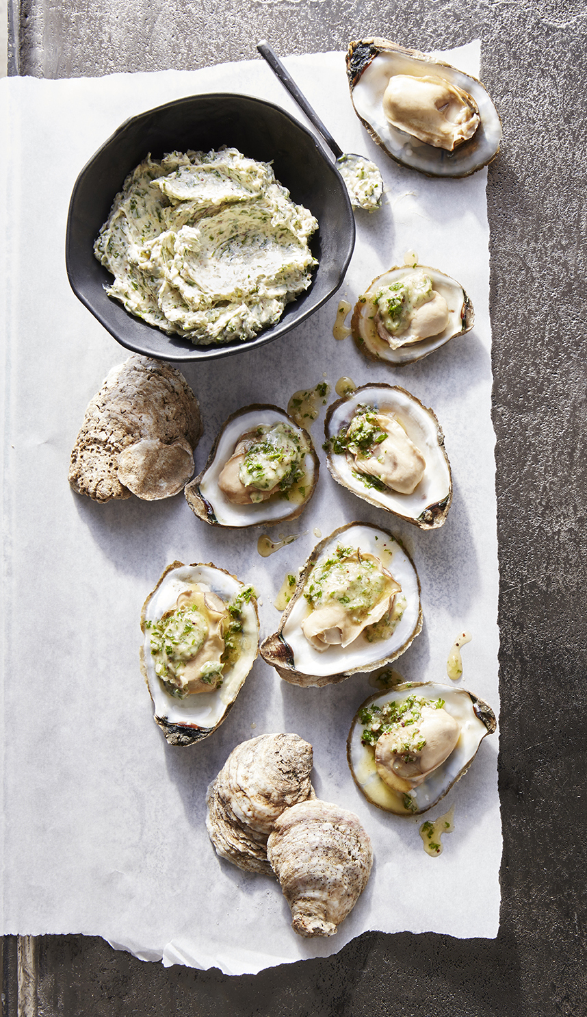 Oyster Roast with Garlic-Parsley Butter
