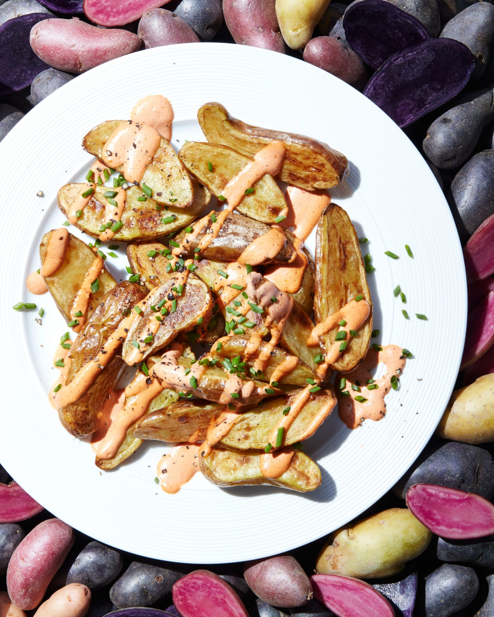 cl- Patatas Bravas Home Fries with Smoky Tomato Mayonnaise