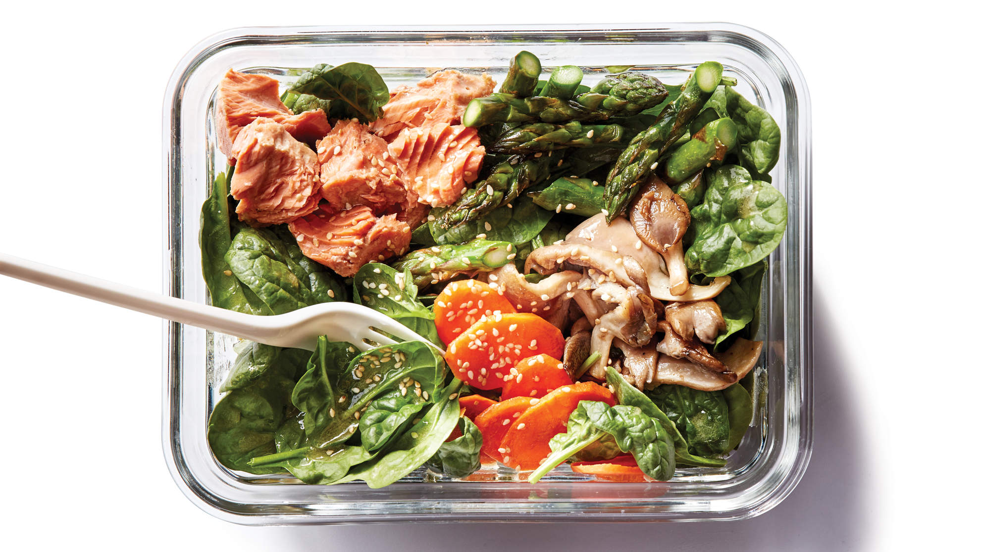 Spinach-Salmon Salad
