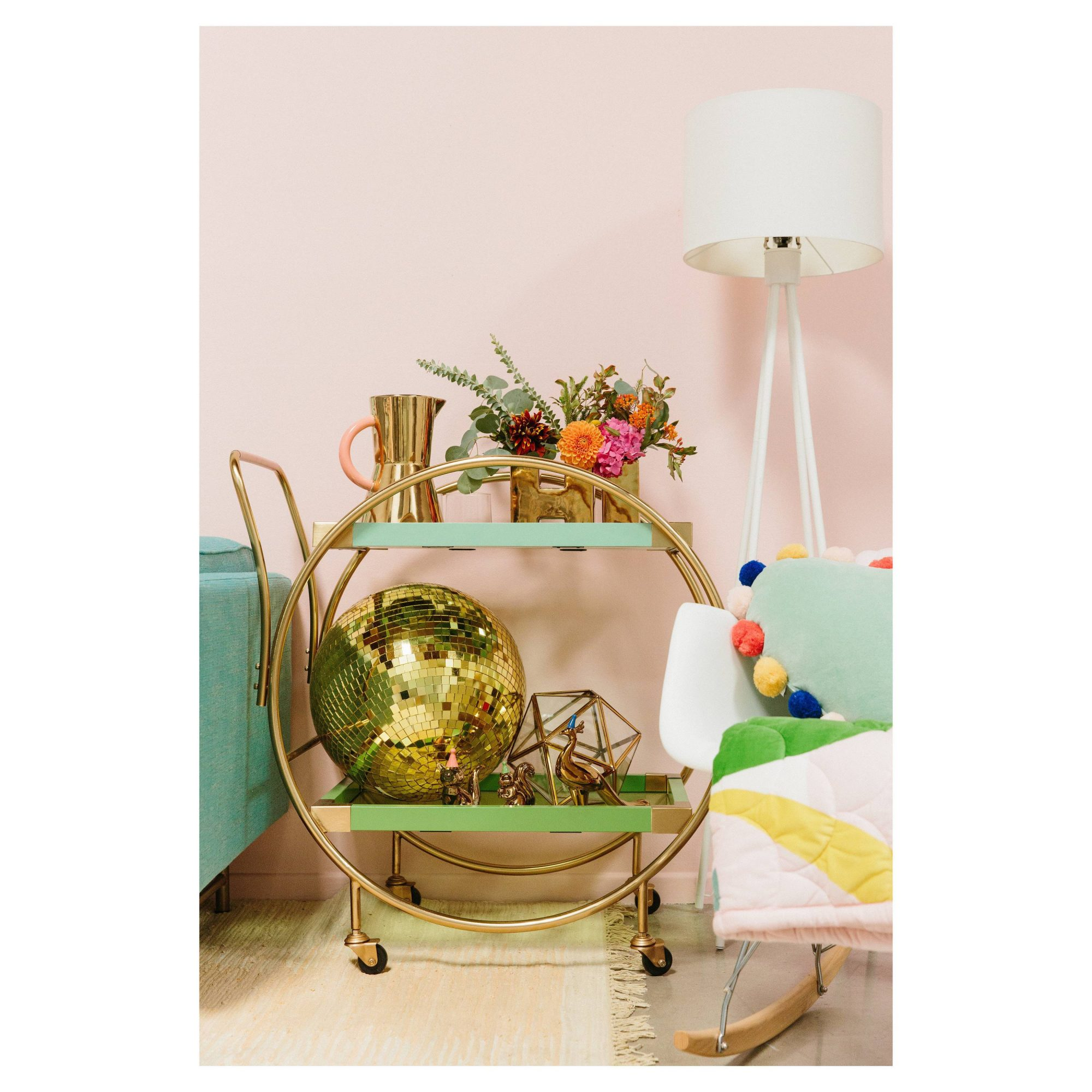 Oh Joy! Round Bar Cart