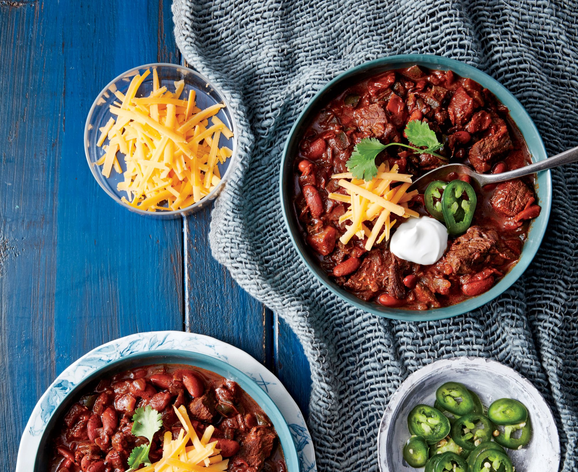 Pressure-Cooker Beef-and-Bean Chili
