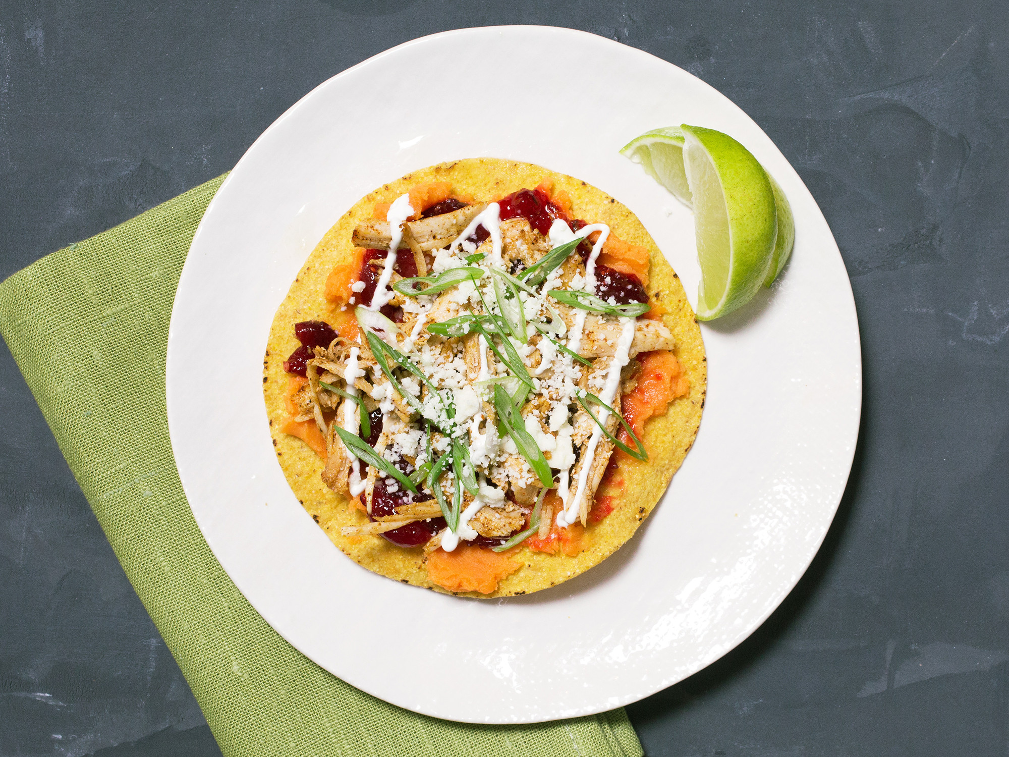 Thanksgiving Leftovers Tostadas