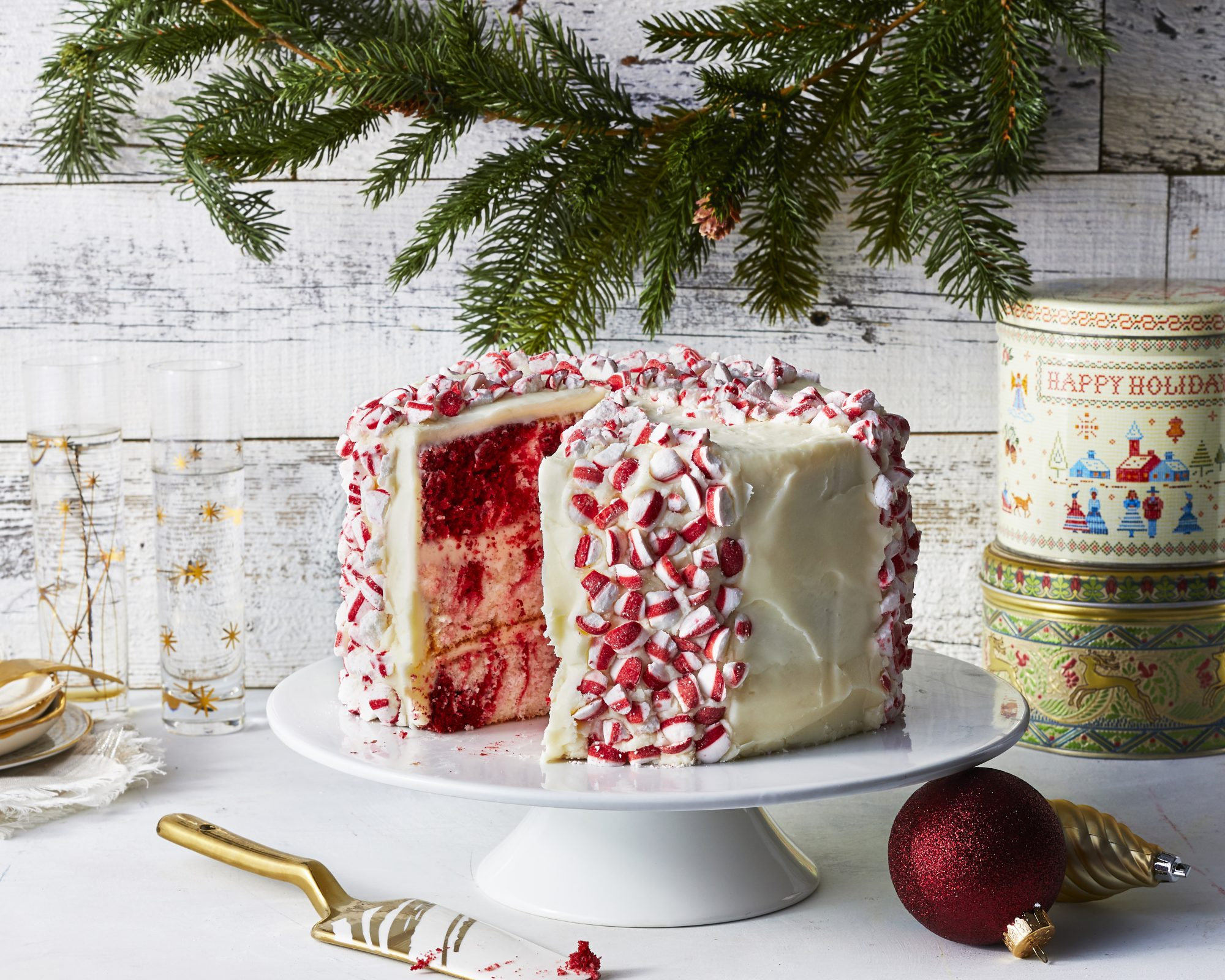 Red Velvet Peppermint Cake