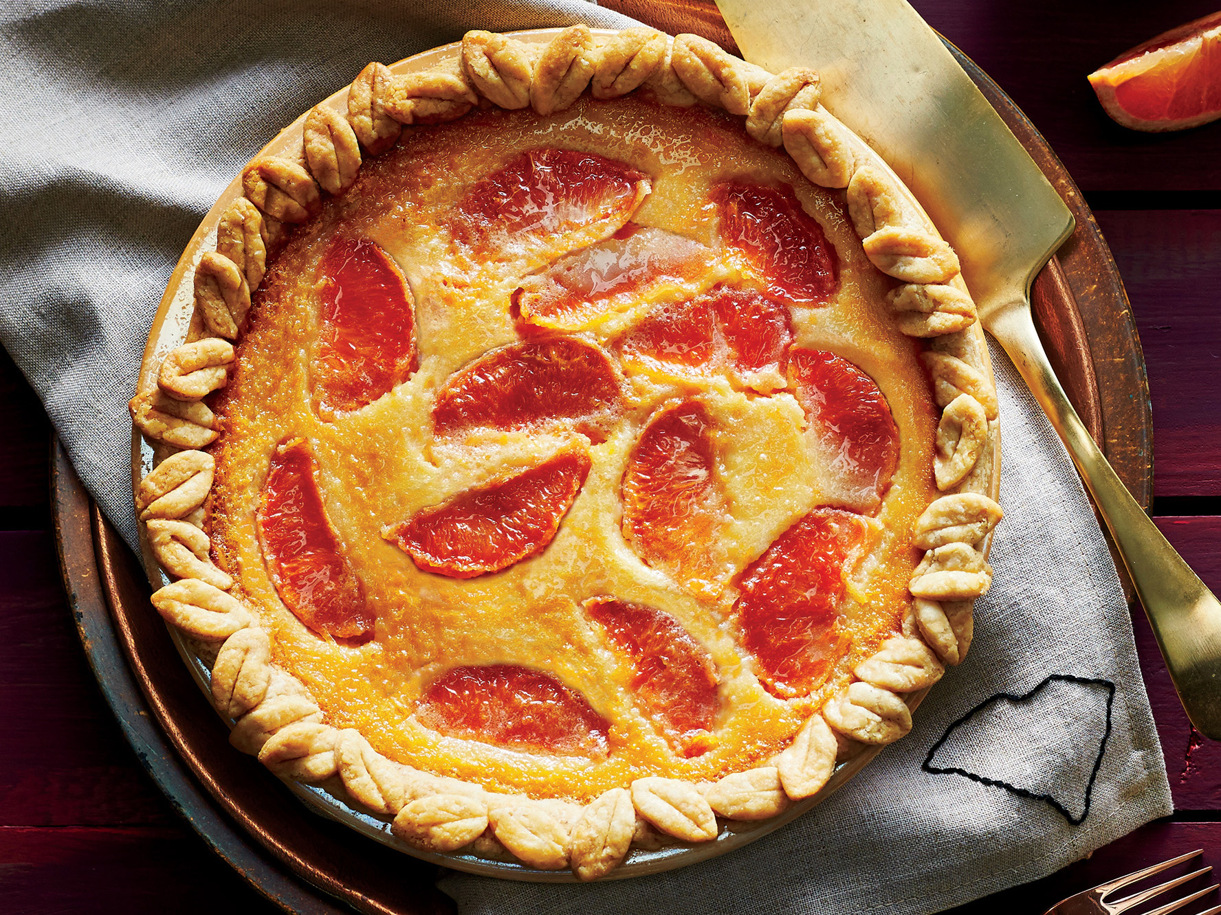 Grapefruit Chess Pie