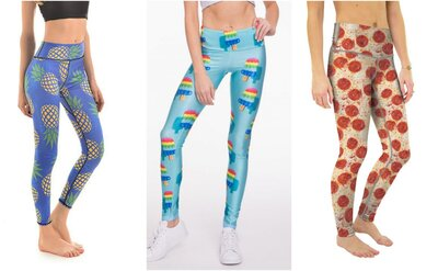 148afb0fcfa3 5 Cute Pairs of Food-Inspired Athletic Leggings We Would Wear Every ...