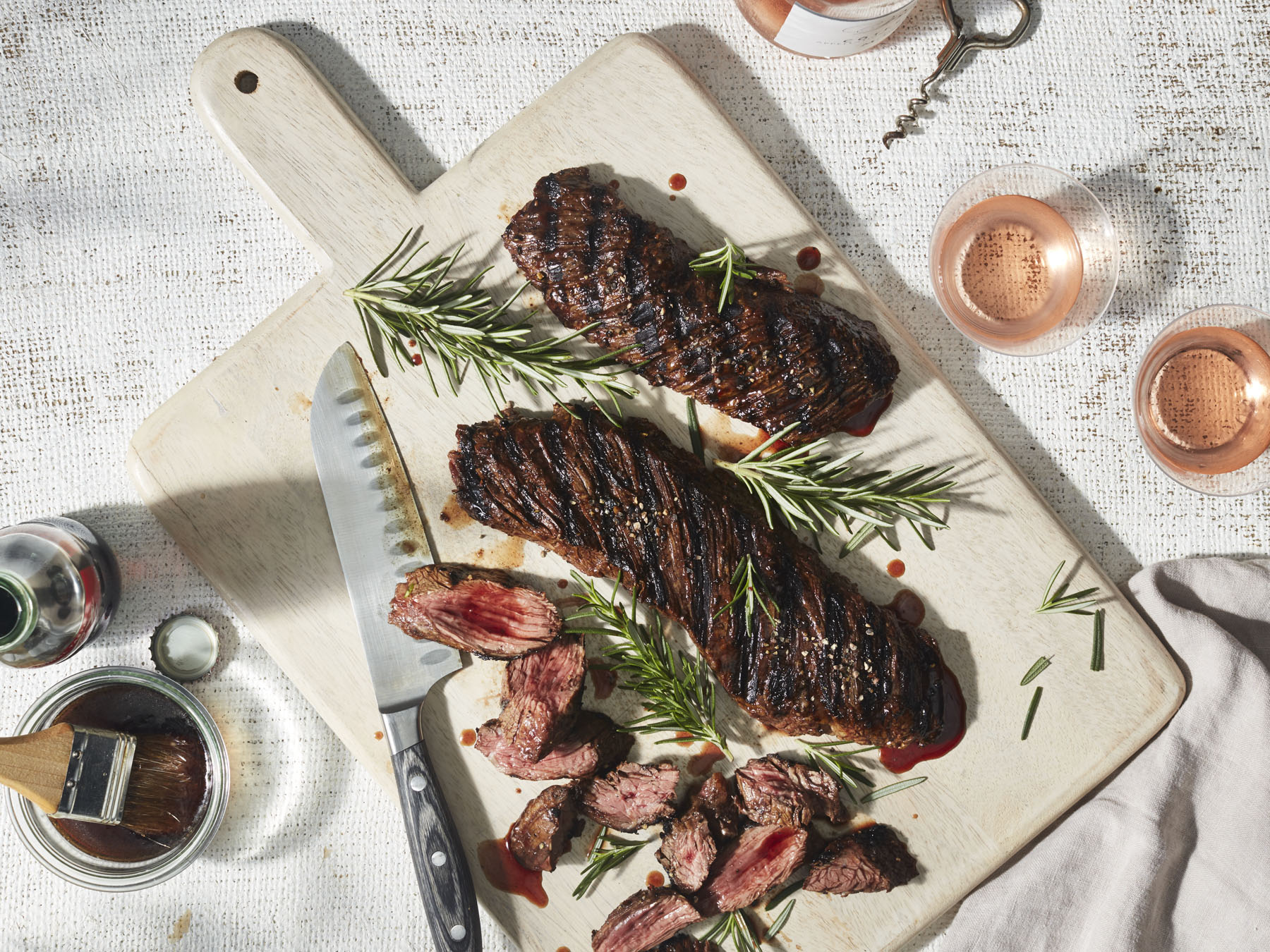 Cola-Marinated Hanger Steak
