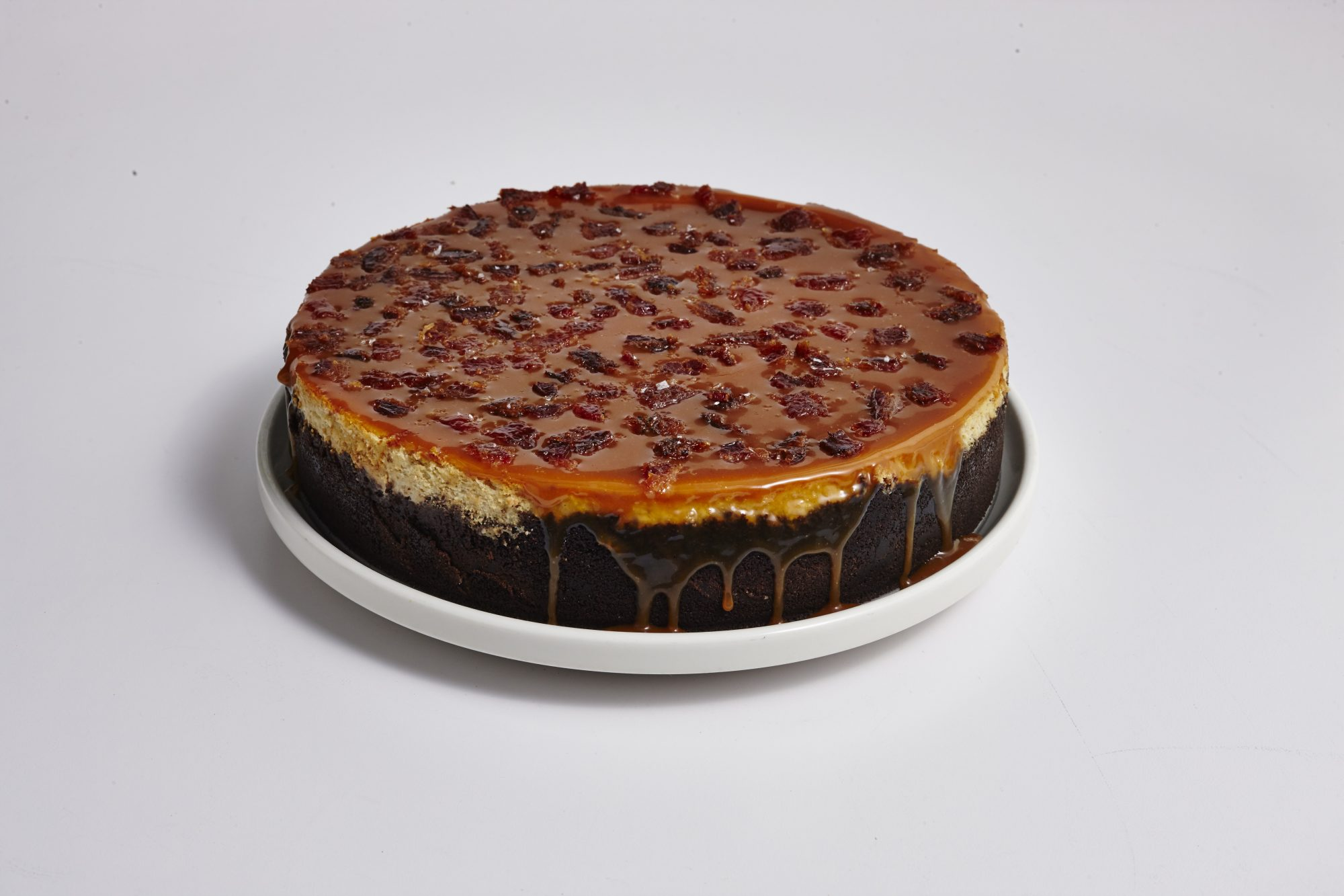 Peanut Butter and Banana Cheesecake with Candied Bacon