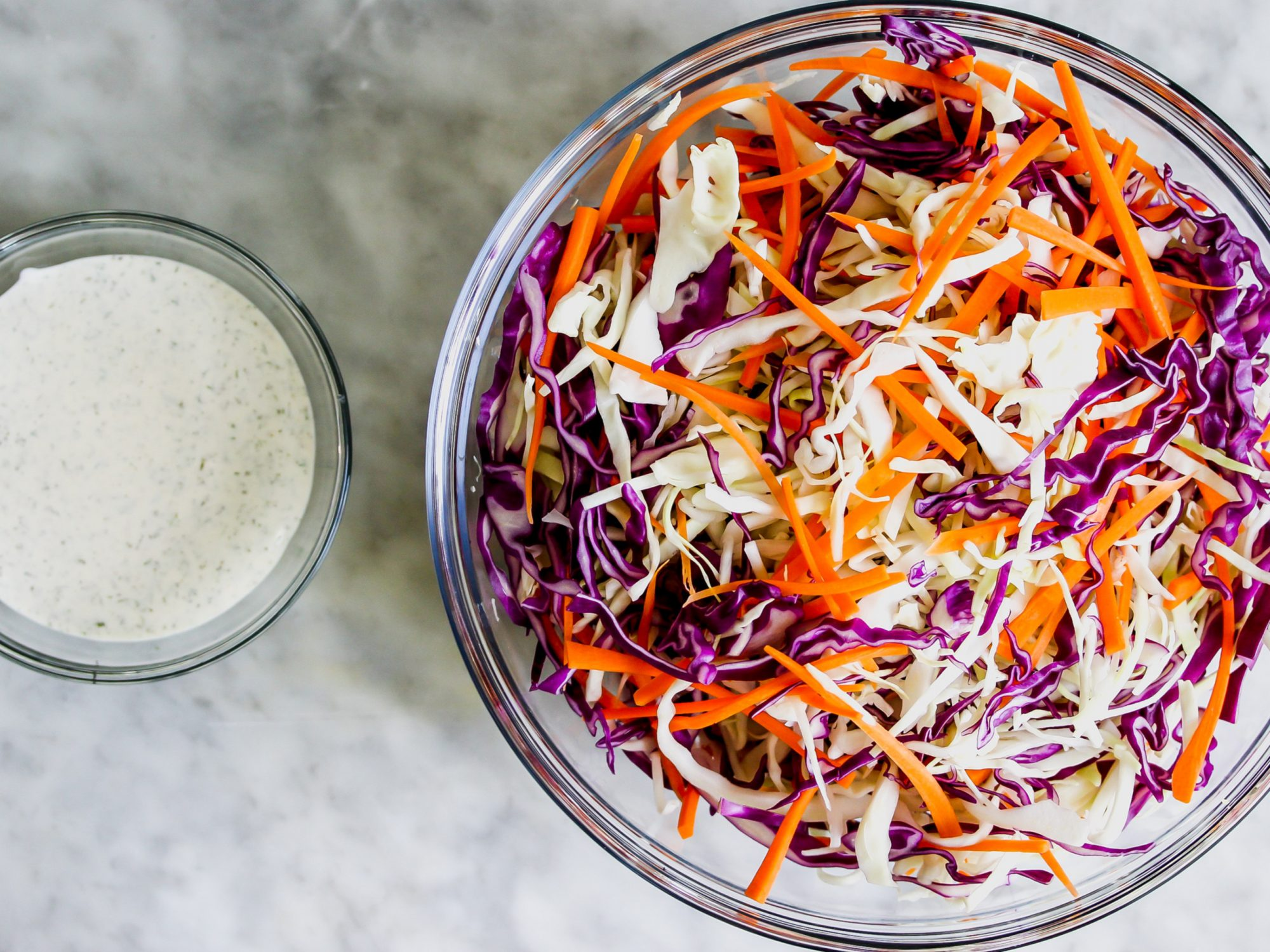 Coleslaw Dressing and Cabbage