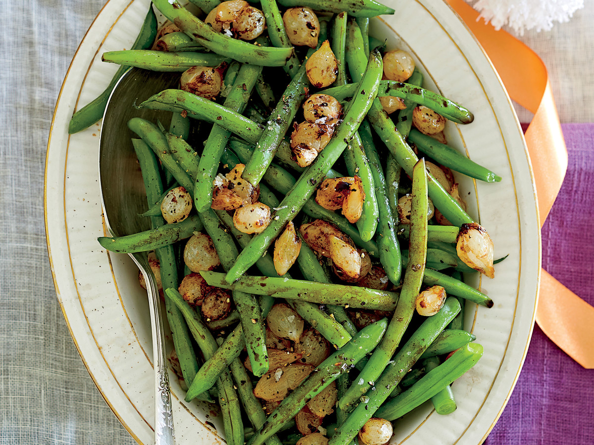 Balsamic Green Beans with Pearl Onions