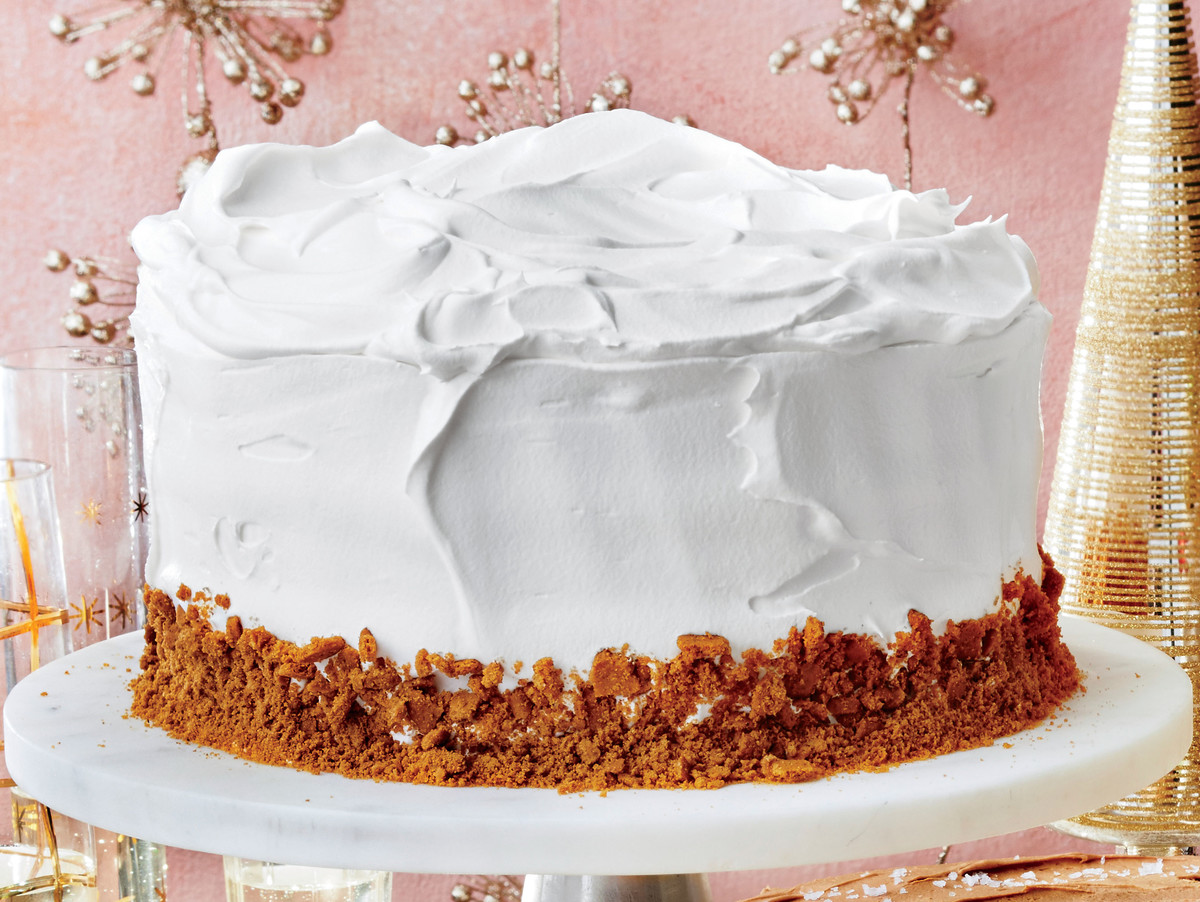 Gingerbread Latte Cake with Vanilla Whipped Cream Frosting