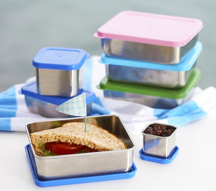 PBK spencer stainless steel blue containers