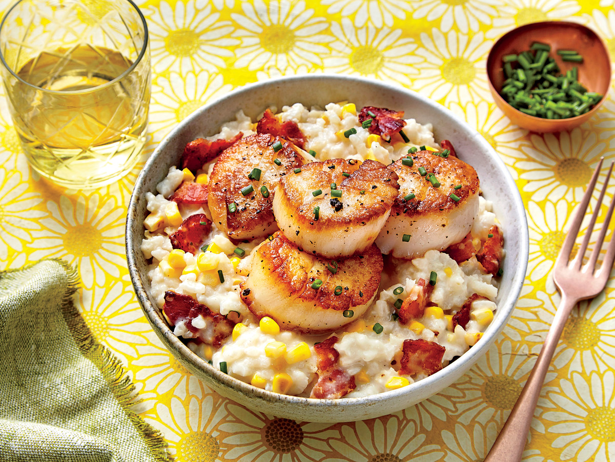 Creamy Rice with Scallops