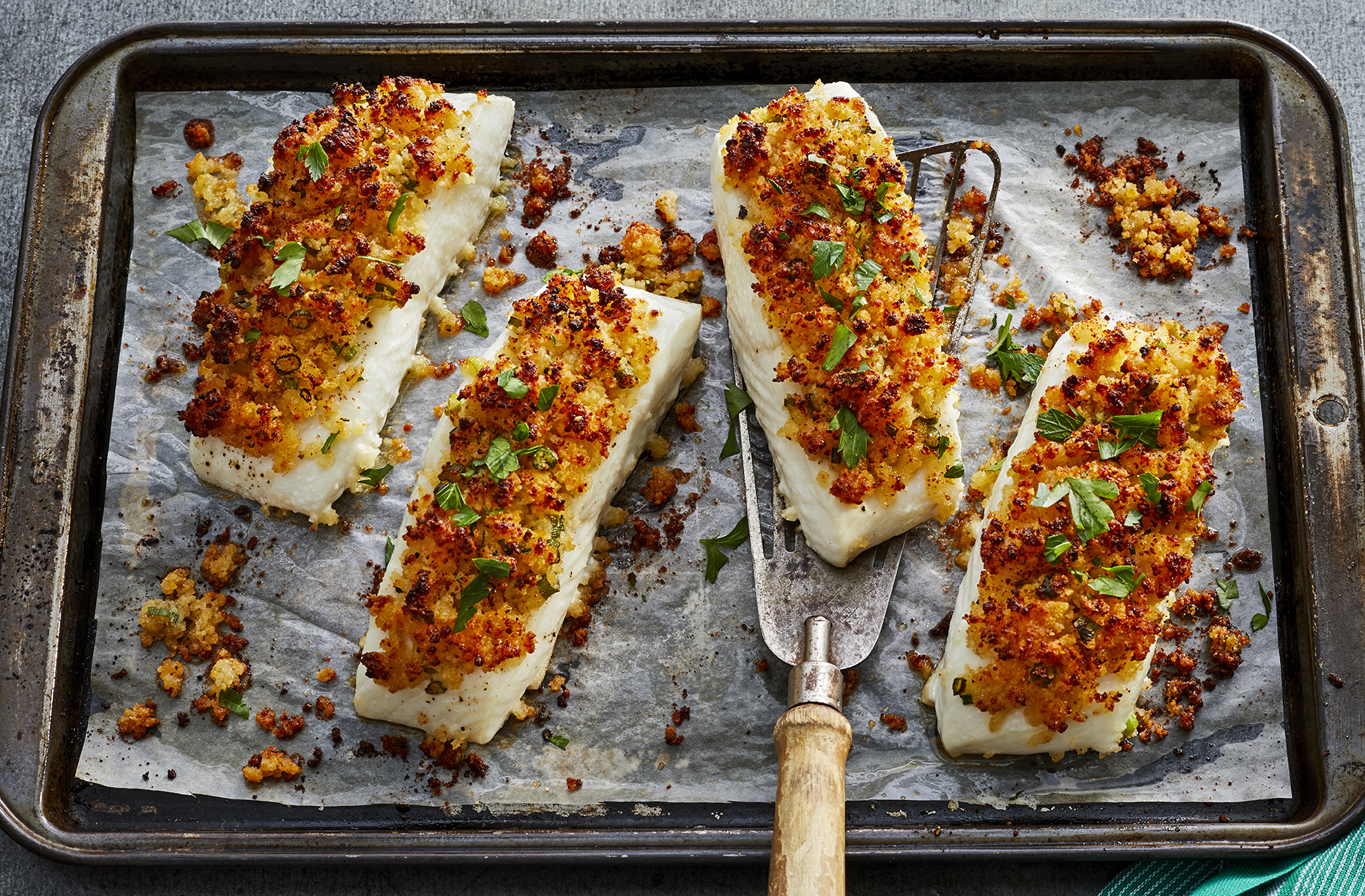 mr-Parmesan Crusted Baked Fish image
