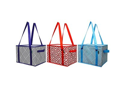 7e724c09f4 Earthwise's Deluxe Collapsible Reusable Shopping Box Grocery Bag Set
