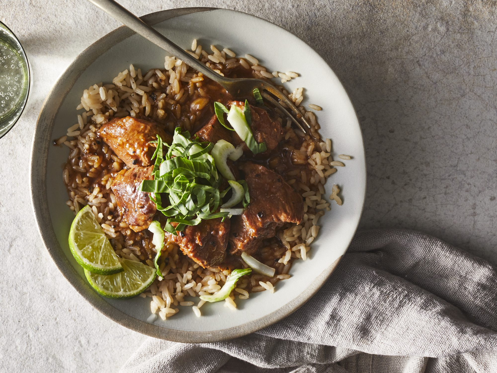 Instant Pot Adobo Pork Bowl