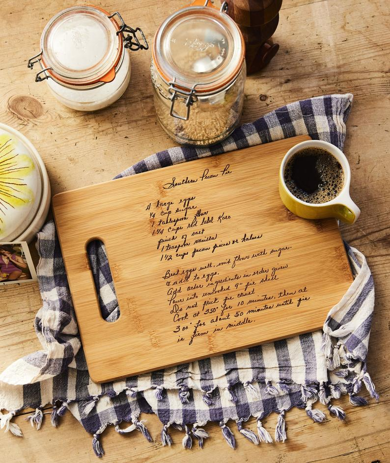 engraved cutting board gift guide