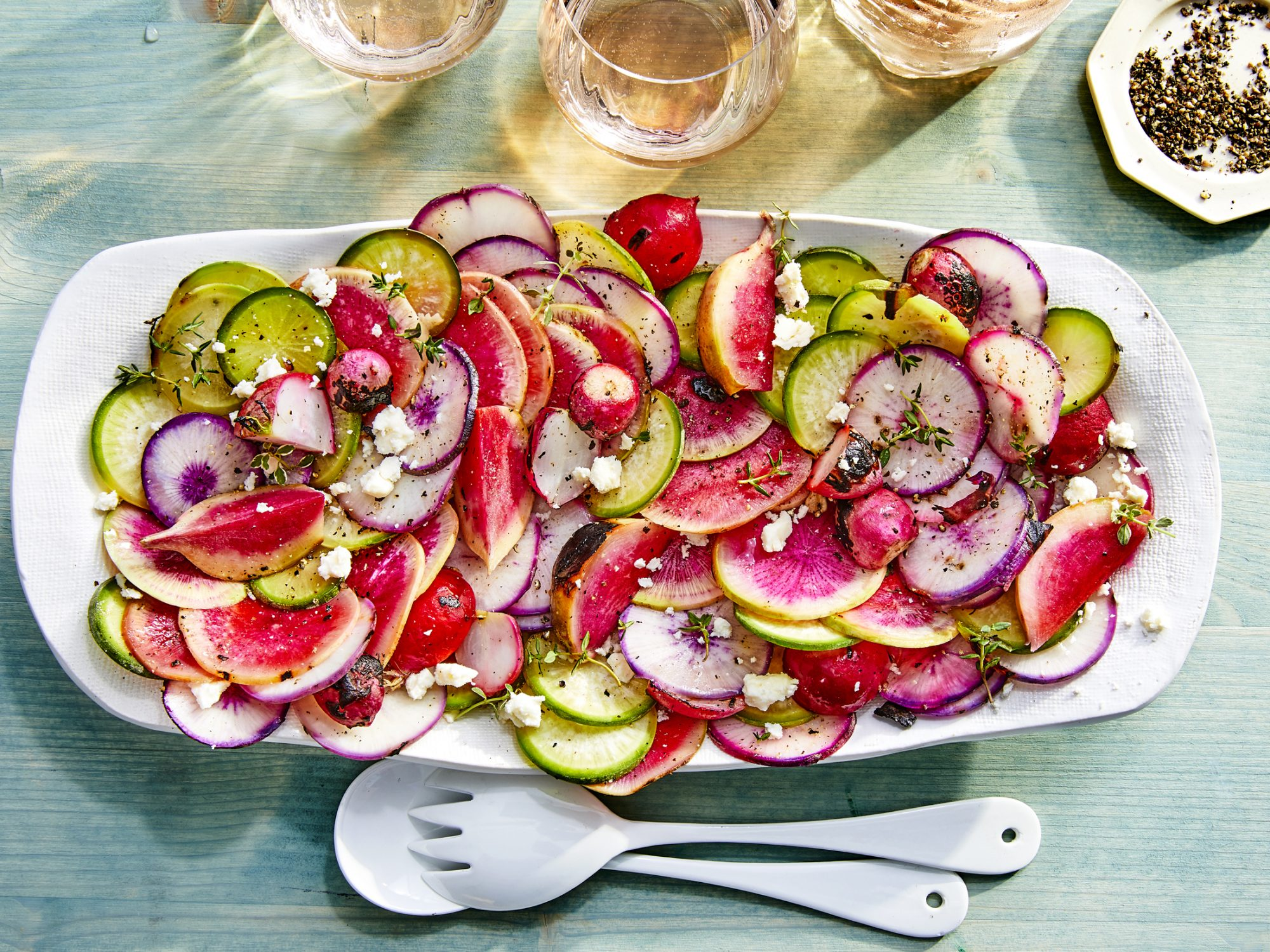 Grilled Radishes with Feta and Thyme