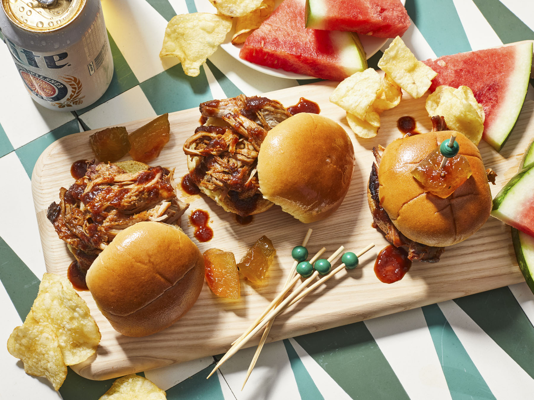 mr-Pork Sliders with Watermelon BBQ Sauce Image