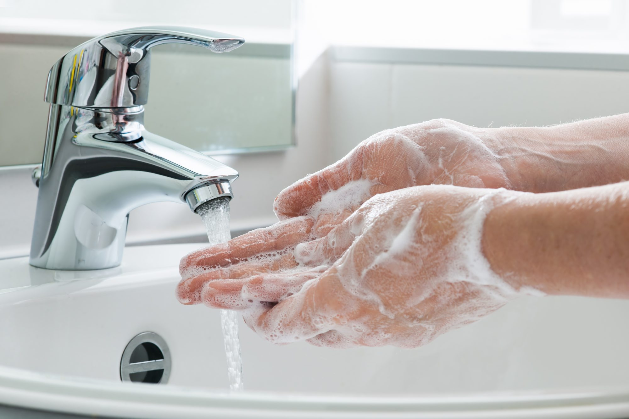 Getty washing hands photo, 7/2/19